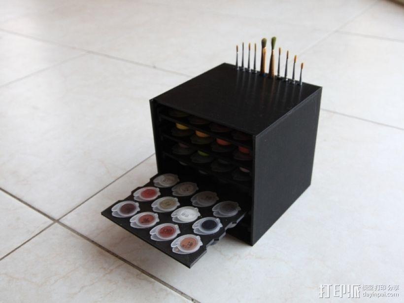颜料箱 3D模型  图3