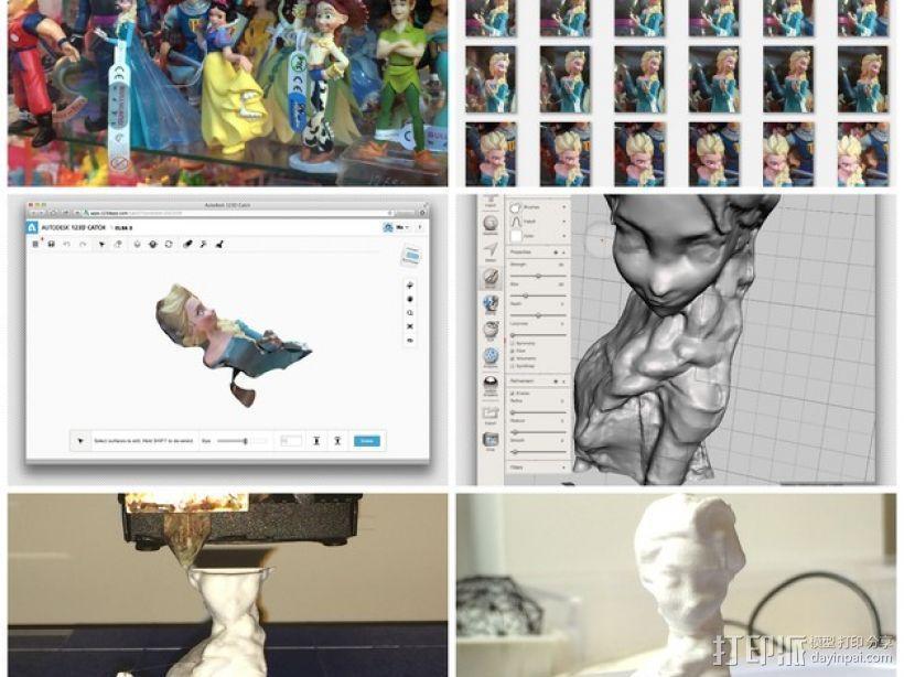 Elsa公主模型 3D模型  图1