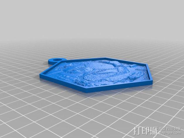 helena人像透光浮雕 3D模型  图1