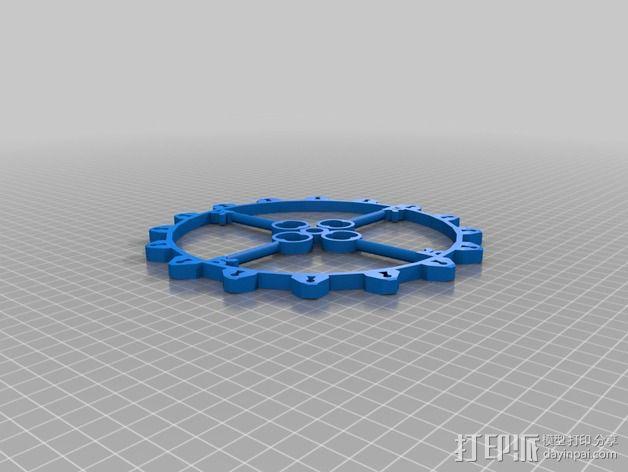万能钥匙齿轮 3D模型  图2