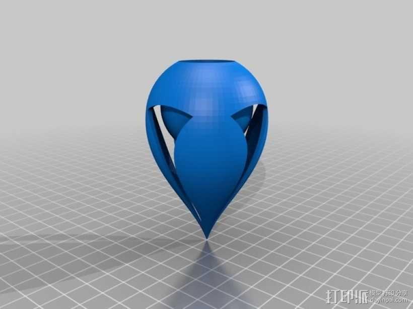 椭圆灯罩 3D模型  图1