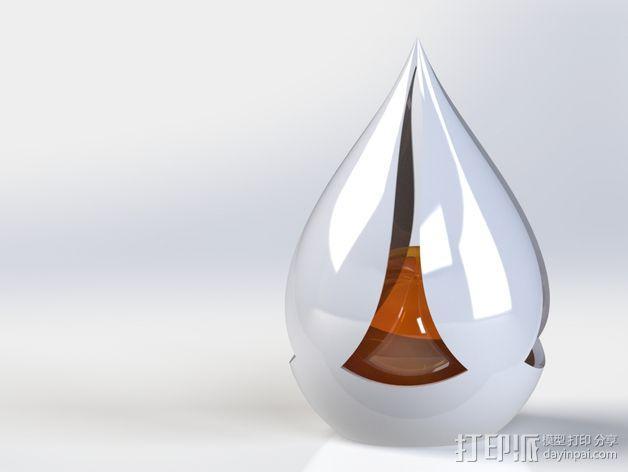 椭圆灯罩 3D模型  图2