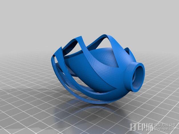 椭圆灯罩 3D模型  图4
