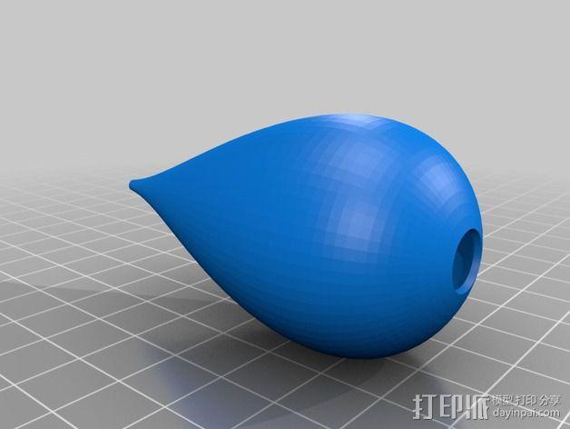 椭圆灯罩 3D模型  图5