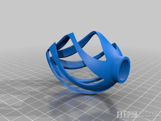 椭圆灯罩 3D模型  图6
