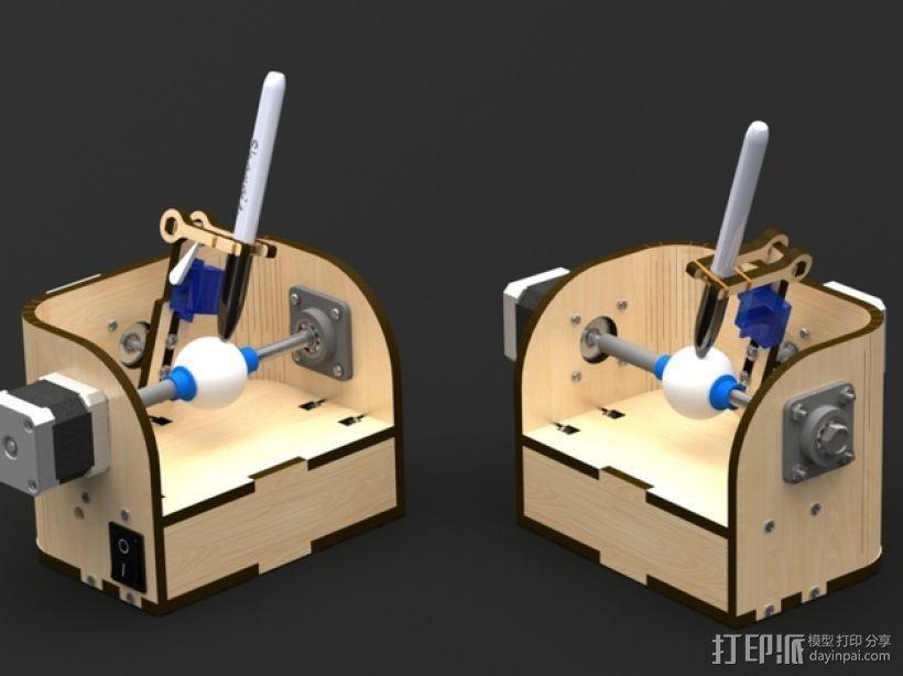 球面刻字器 3D模型  图1