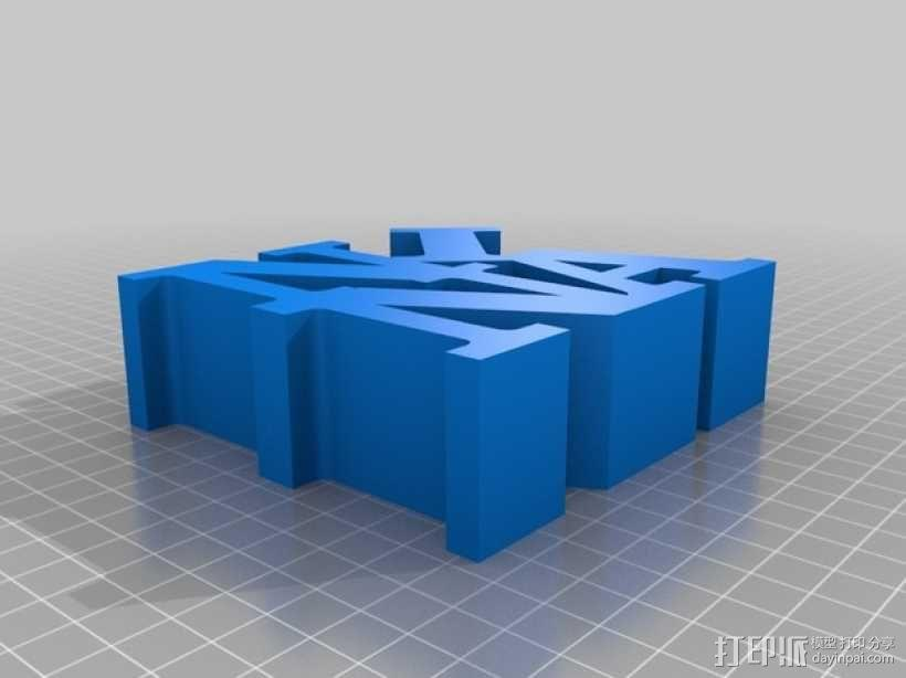 Nina打印字母 3D模型  图1