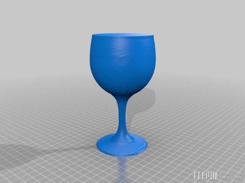 红酒杯 3D模型  图1