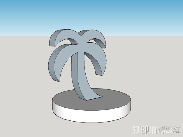 棕榈树 3D模型  图3