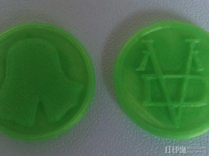Valar Morghulis硬币  3D模型  图1