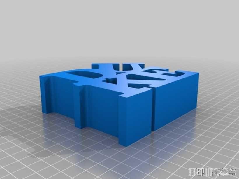 DUKE字母雕塑 3D模型  图1