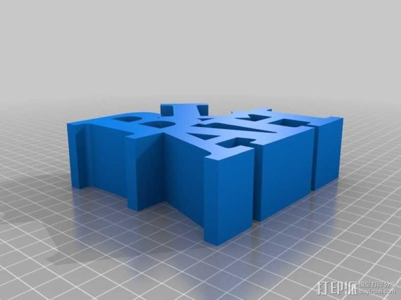 立体字母模型 3D模型  图1