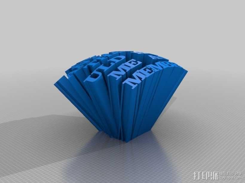 英文字母模型 3D模型  图1