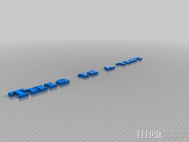 英文字母模型 3D模型  图2
