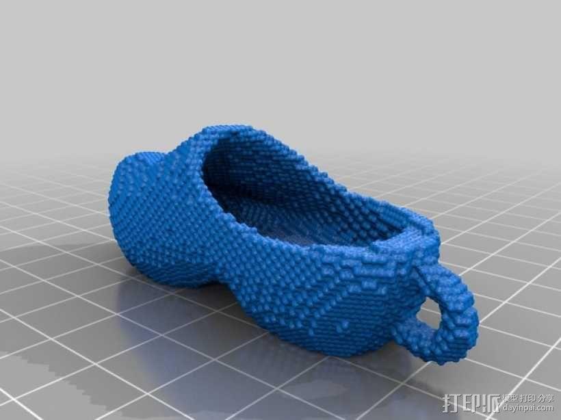 木屐钥匙扣 3D模型  图2