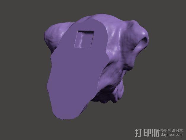 拳师犬头部模型 3D模型  图3
