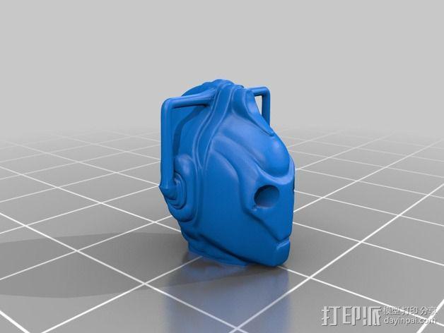 赛博人头部模型 3D模型  图2