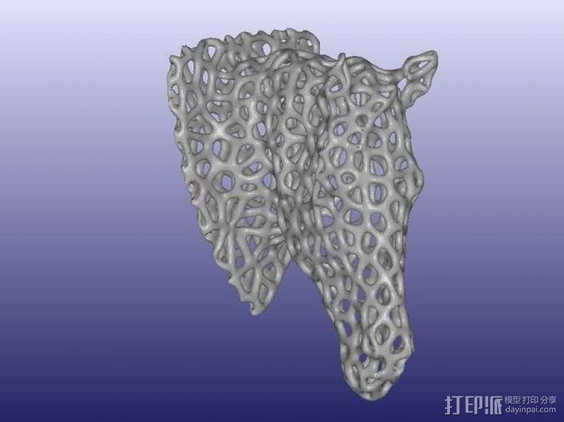 泰森多边形马头模型 3D模型  图1