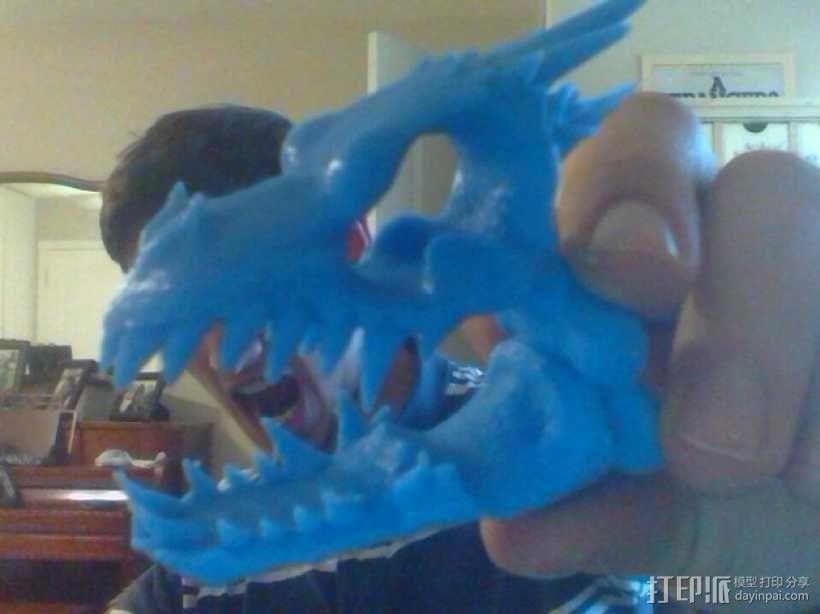 朋克风龙头骨 3D模型  图1