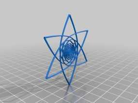 螺旋涡流形花 3D模型