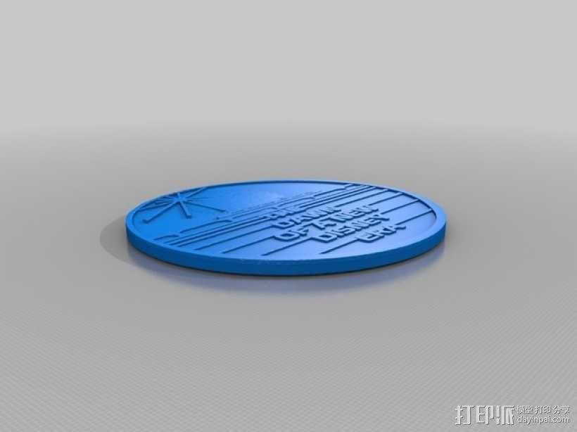 迪士尼未来世界纪念币 3D模型  图2