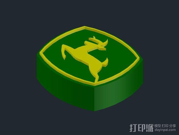 美国迪尔公司 标志 3D模型  图4