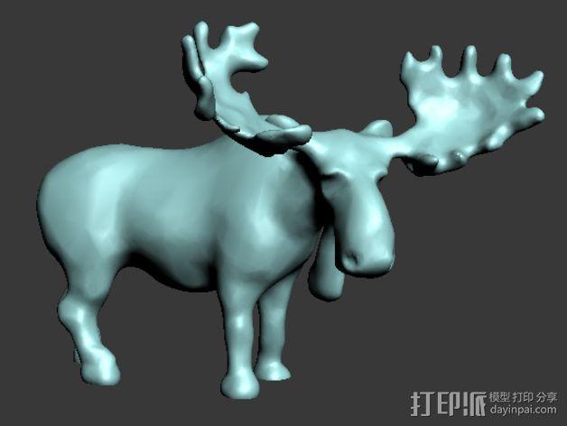 驼鹿 3D模型  图1