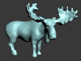 驼鹿 3D模型