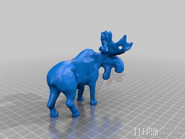 驼鹿 3D模型  图2