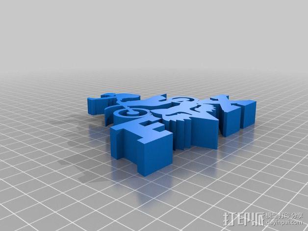 福克斯赛车 标志 3D模型  图1