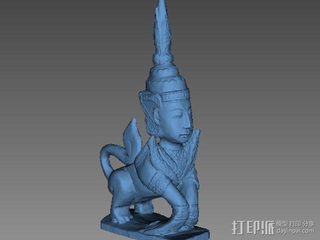 泰国神话 雕塑 3D模型  图2