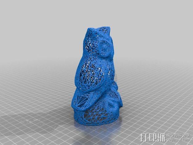 猫头鹰 雕塑 3D模型  图2