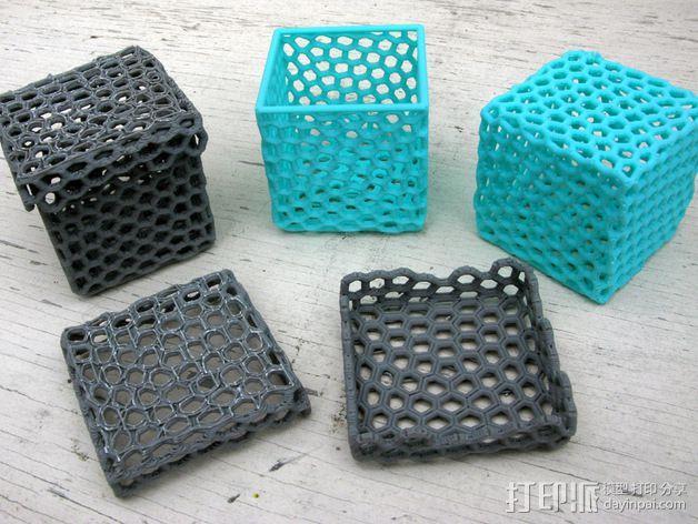 镂空小盒 3D模型  图1