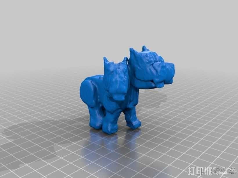 《哈利波特》三头犬 3D模型  图2