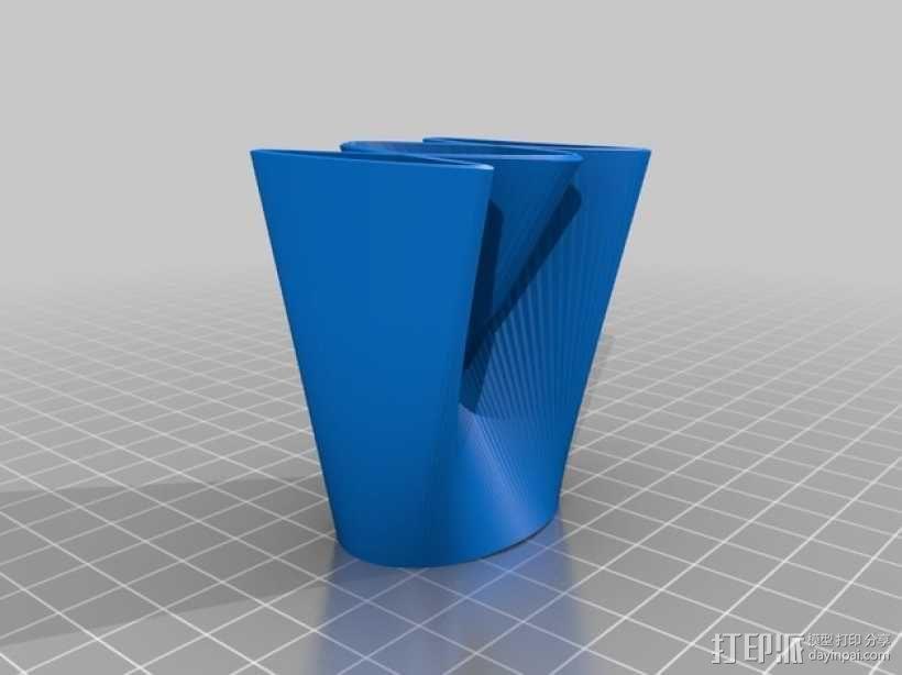 直纹曲面 迷你花瓶 3D模型  图2