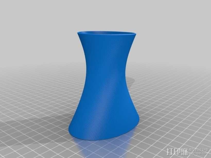 直纹曲面 迷你花瓶 3D模型  图3