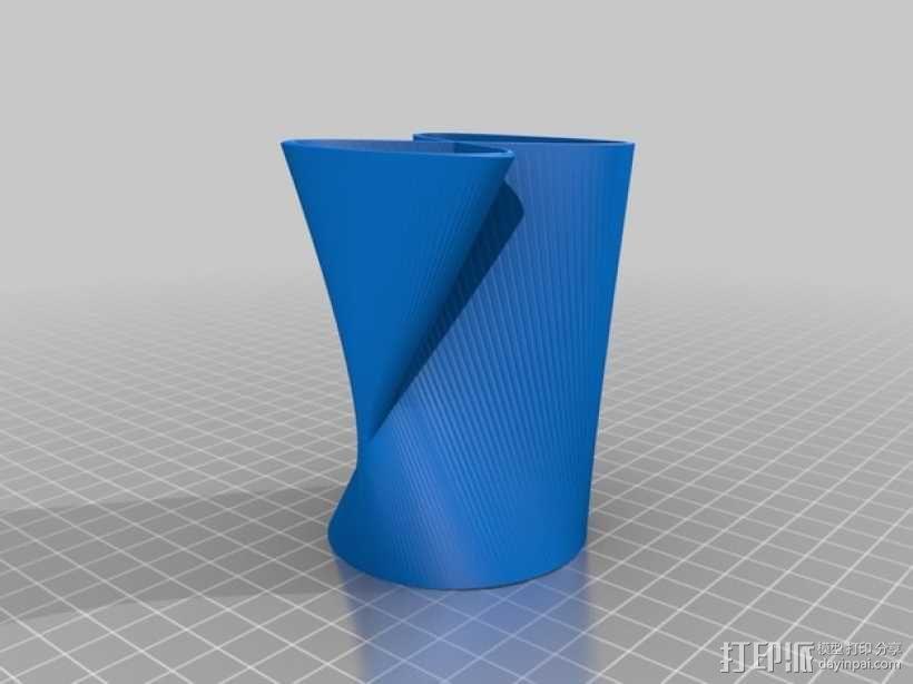 直纹曲面 迷你花瓶 3D模型  图4