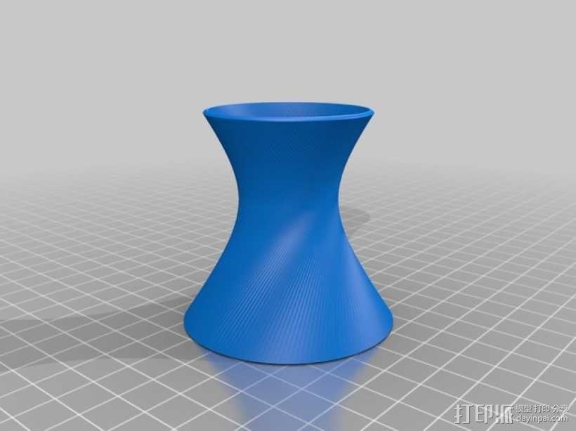 直纹曲面 迷你花瓶 3D模型  图5