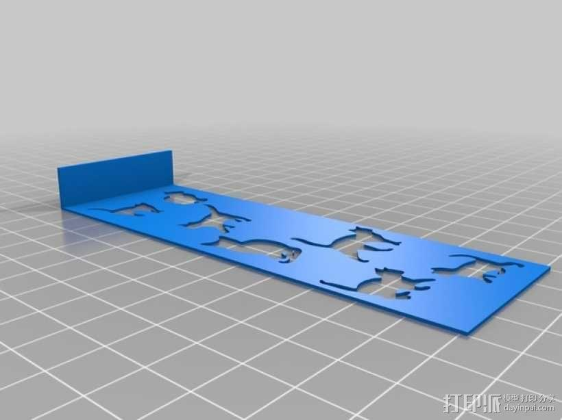 小猫 书签 3D模型  图1