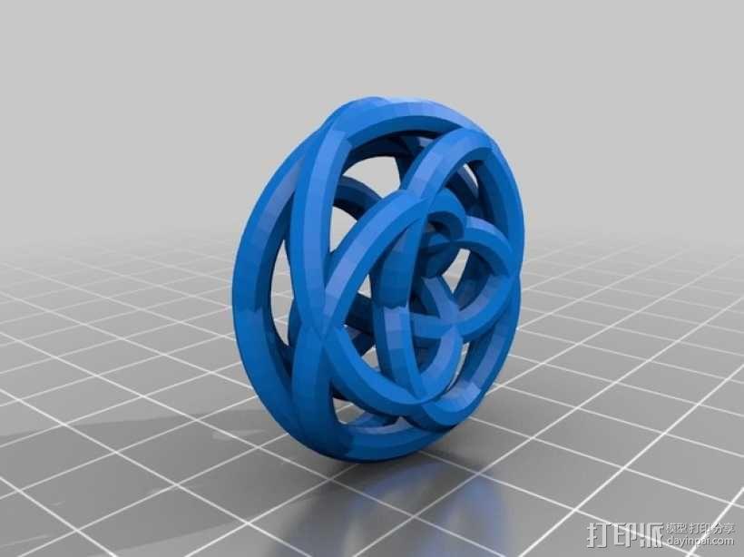 双圆环面 3D模型  图2