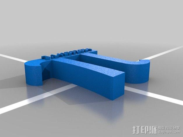圆周率π 标志 3D模型  图2