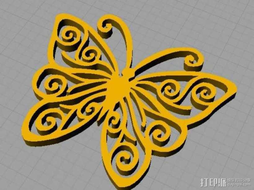 蝴蝶 3D模型  图1