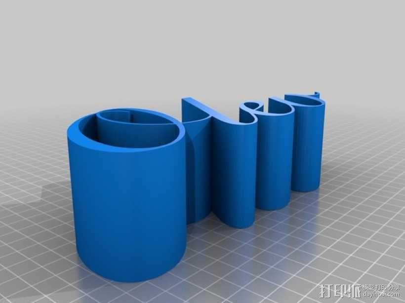 Olev的名字3D字母打印 3D模型  图2