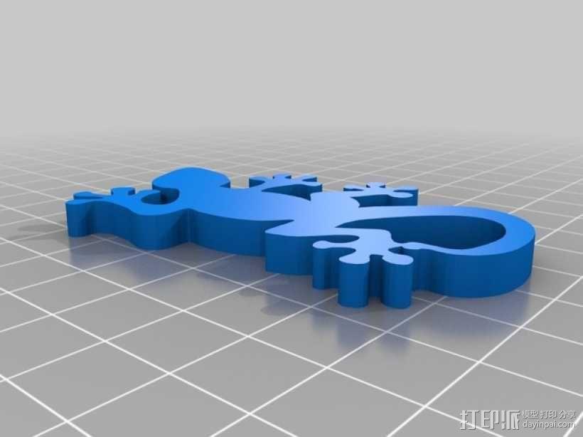 壁虎钥匙扣 3D模型  图1