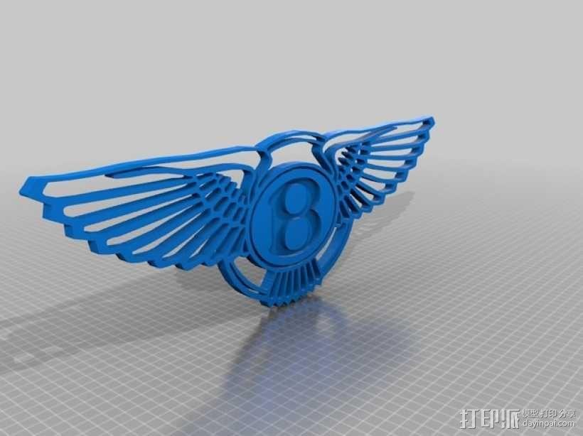 宾利 Logo 3D模型  图1