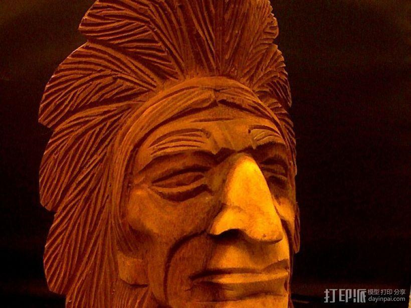 印第安人 3D模型  图1