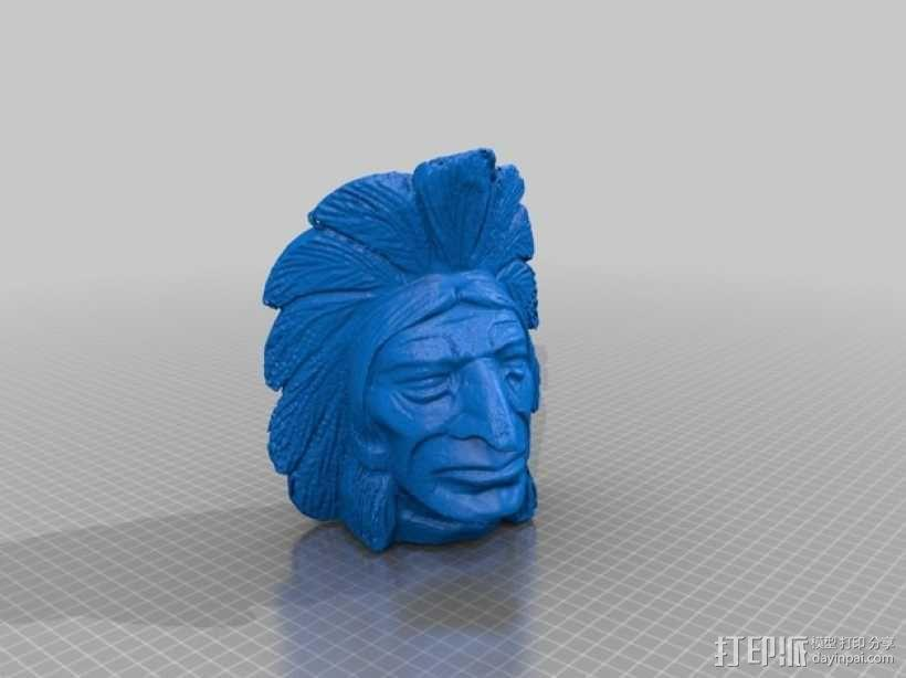 印第安人 3D模型  图2
