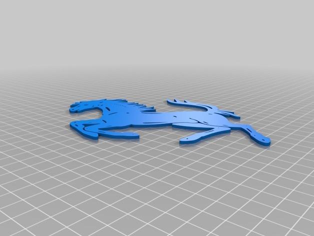 法拉利LOGO  3D模型  图2