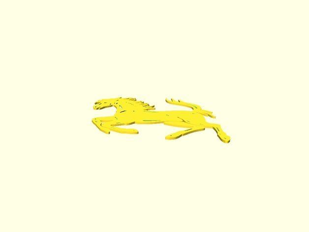 法拉利LOGO  3D模型  图3