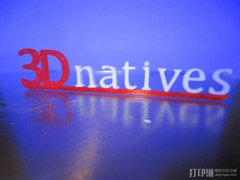 3Dnatives logo 3D模型  图1